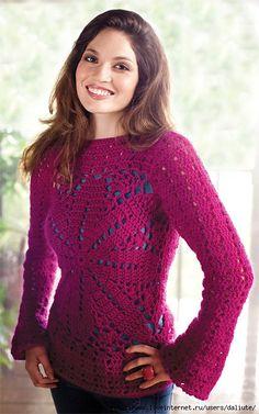 Blusa Pink de Crochet.