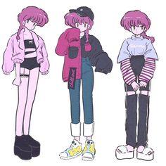 Old Anime, Anime Art, Pretty Art, Cute Art, Character Design References, Character Art, Arte Indie, Arte Do Kawaii, Look Girl