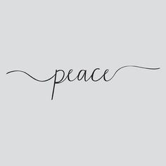 Image result for the word peace tattoo