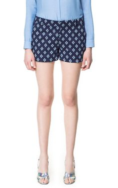 ETHNIC PRINTED SHORTS - Shorts - Woman | ZARA United States $59.90 onsale for $39.99