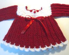 Baby girl red and white Valentines day dress