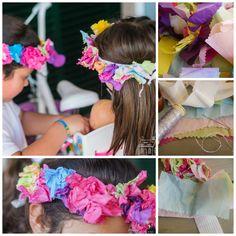 como hacer una corona de flores de papel