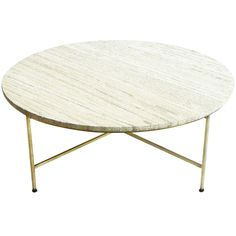 Travertine Topped Coffee Table by Paul McCobb for Directional