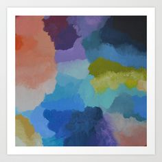 colorful+abstract+Art+Print+by+melissa+lyons+art+-+$22.88