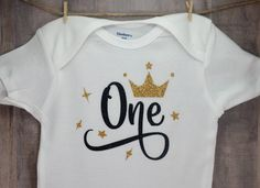 One Year Old Princess Birthday Onesie Baby Shower Gift Infant Toddler Funny Bodysuit Hilarious Cute Clothes Coming Home Outfit Back The Blue by ForeverCharmz on Etsy