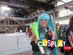 Miku Hatsune Cosplay from Vocaloid in Mini Animania 2013 AU