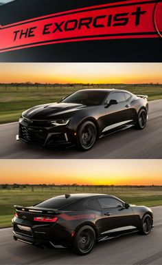 """Chevy Camaro - """"The Exorcist"""", with 1000 hp and 1350 Nm torque. - This car is so EPIC! Camaro Zl1, Chevy Camaro, Corvette, Chevy Pickups, Chevelle Ss, Cadillac, Modern Muscle Cars, American Muscle Cars, 1957 Chevrolet"""