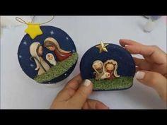 Especial de Natal 6 Bola sagrada família - YouTube Nativity Ornaments, Diy Christmas Ornaments, Xmas Crafts, Diy Christmas Fireplace, Rustic Christmas, Kids Clay, Christmas Hacks, Cute Clay, Clay Figures