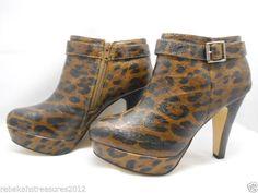 Womens Madden Girl Contextt Leopard Booties  #SteveMadden #FashionAnkle