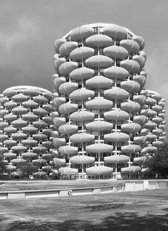 Cité des choux (or: Choux de Créteil), Créteil, Paris, France. By Gérard Grandval, 1972