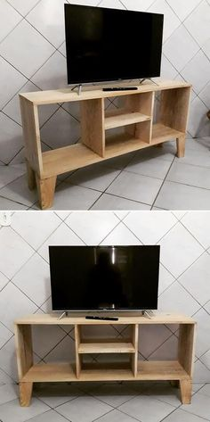 72 Best Pallet Tv Stands images in 2019 | Pallet furniture