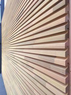 Trendy Ideas For Exterior Wood Facade Timber Cladding Exterior Wall Cladding, Cedar Cladding, House Cladding, Cladding Panels, External Cladding, Wooden Facade, Building Design, Wood Wall, Slat Wall