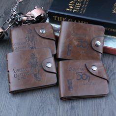 Venda designer de moda homens carteiras 8 Padrões Clássicos hasp casuais marrom titulares de cartão de crédito da bolsa da carteira para os homens frete grátis