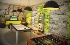 Decoração de Sala de Jogos - http://www.dicasdecoracao.com/decoracao-de-sala-de-jogos/