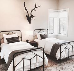 Modern Farmhouse, Pillows, Bedroom, Interior, Furniture, Antlers, Ava, Followers, Design