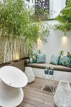 San Diego-Landschaftsgestaltung-Yard-Designs You are in the right place about patio roof Here we offer you the most beautiful pictures about the patio chico San Diego, Patio Interior, Interior Design, Bamboo Bamboo, Design Cour, Rooftop Design, Relax, Walled Garden, Garden Types