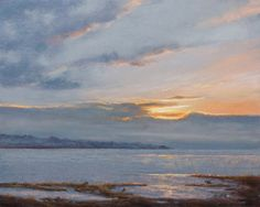 City Beach Sunrise, pastel landscape painting by Sally Byers