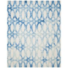 Shop Wayfair for Safavieh Dip Dye Ivory / Blue Area Rug - Great Deals on all Decor products with the best selection to choose from!
