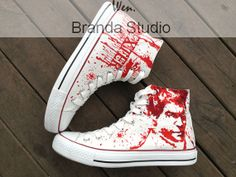 Dare You To wear Them! Dexter Shoes Dexter Morgan Studio Hand Painted Shoes 52.99Usd,Hand Paint On Custom Converse Shoes Only 90Usd