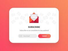 25 Best Newsletter signup images | Newsletter signup, App design