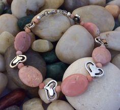 Peruvian Bracelet, Peruvian Jewelry, Peruvian Opal, Peruvian Pink Opal, Peruvian Opal Beads, Peruvian Gemstones by ShinyCraftShop on Etsy https://www.etsy.com/listing/490415409/peruvian-bracelet-peruvian-jewelry