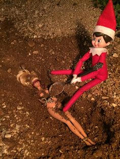 The elf goes psycho and buries the evidence.