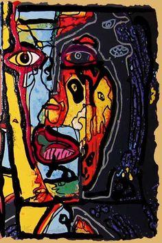 robert Combas Bad Painting, Abstract Art Images, Neo Expressionism, Human Art, Modern Art, Contemporary Art, Mixed Media Canvas, Conceptual Art, Art Plastique
