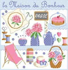 Pause Bonheur Stitches Wow, Cross Stitches, Atelier Photo, Le Point, Passion, Creations, Kids Rugs, Embroidery, Sewing