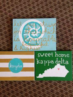 Kappa delta canvases I made!