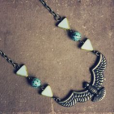 gizelle  a tribal inspired statement bird by RootsandFeathers, $34.00