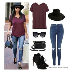 @kourtneykardash casual style! Find this look in:  top: zara.com  jeans: genuine-people.com  shoes: zara.com  bag: lordandtaylor.com  hat:mango.com  sunglasses: whitefoxboutique.com #shoppingwithclaudia #claudiazuleta #fashionstylist #shopping #personalshopping #celebritystyle  #streetstyle #outfit #look #styletips#amazing #love #styletipsbyclaudia #fashion #fashionable #lookoftheday #trends #winter #fashionstyle #ootd #kourtneykardashian