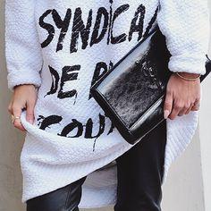 blanco y negro @ysl @5preview_official #5preview #casual #outfit #comfy #ysl #blackandwhite #streetstyle #brigidamartinez by brigidamartinez