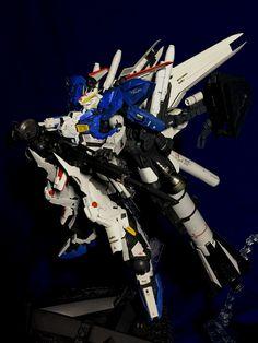 1/100 Ex-S Hi-Nu Gundam WHITE HORNET: Custom Work by kaizou-o-p REVIEW, Info | GUNJAP