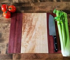 Figured Maple and Purpleheart Cutting Board by StarksGrains