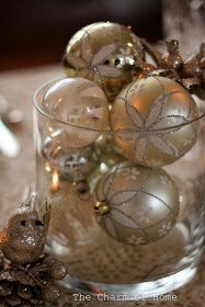 The Charm of Home: Christmas Table: Dollar Store Centerpiece