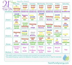 Not Sure What To Eat On The 1200 21 Day Fix Calorie Plan You May Need A Little Menu Inspiration These Plans Are All For Bracket