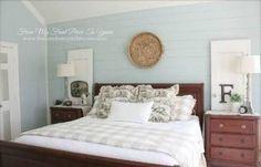Coastal bedding, Cozy bedroom and Plank walls
