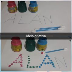 Creative Idea - Early Childhood Education - Gi Carvalho: Activity to work with fine motor coordination . Language Activities, Fun Activities, Motor Coordination, Supernanny, Early Childhood Education, Painting For Kids, Kids Education, Preschool Crafts, School Projects
