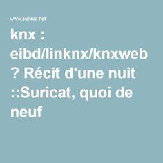 knx : eibd/linknx/knxweb ? Récit d'une nuit ::Suricat, quoi de neuf ?