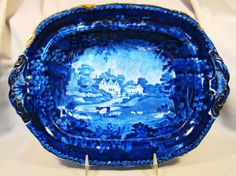 Rare+Early+Adams+Historical+Dark+Blue+Transfer+Pearlware+Vegetable+Tureen++#Victorian+#AdamsWarrantedStaffordshire
