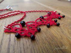 tatting lace, frywolitkowy naszyjnik
