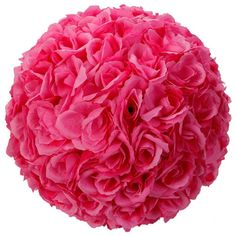 MicroMall(TM) 5pcs Rose Flower Ball Wedding Flower Decoration (Dark Pink) ** Be sure to check out this awesome product.