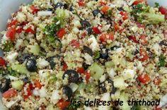 salade grecque au boulgour et quinoa,                      Bonjour! il a fait très beau en septembre et j'ai réalisé cette salade pou les meilleures recettes de cuisine d'Internet sur speedrecette