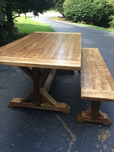 Custom built Farmhouse Tables for sale Midlothian VA - Richmond VA area - Furniture - Custom Wood Working Rustic Farm House tables and benches. Trestle Tables
