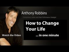 Tony Robbins - How to Change Your Life - YouTube