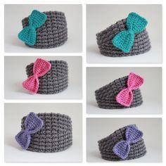 Crochet Bow Headband/Girls Bow Headband/ bow Headband by Rouve, $28.00
