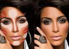 #contouring #makeuptechnics #kimkardashian