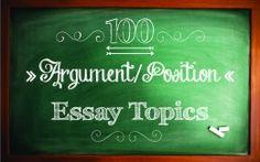 125 High School English Argument Topics
