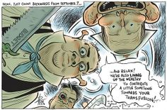 (David Pope cartoon- Canberra Times) ABBOTT DESTRUCTION OF AUSTRALIA.  PLEASE REQUEST THE OPPOSITION PARTIES TO BLOCK SUPPLY TO THE ABBOTT GOVERNMENT IN ORDER TO FORCE A DOUBLE DISSOLUTION.  VOTE ABBOTT AND CO. OUT NEVER TO RETURN.