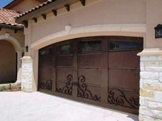 Garage Door Sensation-40 - Wrought Iron Doors, Windows, Gates, & Railings from Cantera Doors